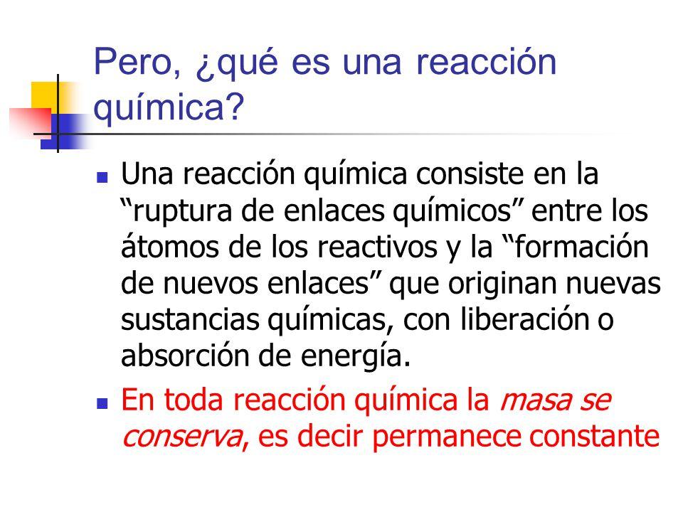 Pero, ¿qué es una reacción química
