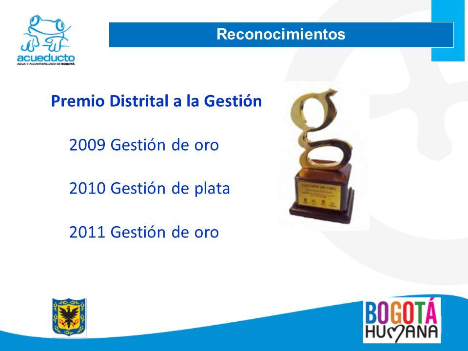 Premio Distrital a la Gestión 2009 Gestión de oro Gestión de plata