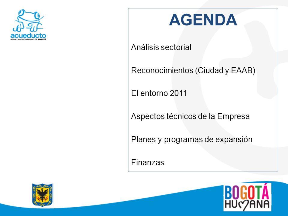 AGENDA Análisis sectorial Reconocimientos (Ciudad y EAAB)