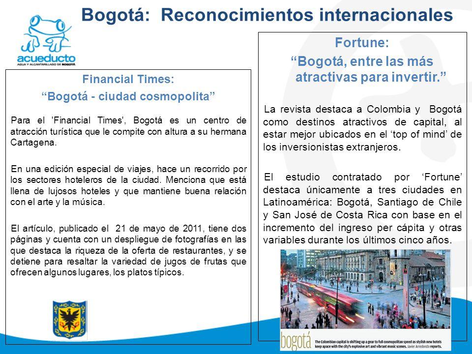 Bogotá: Reconocimientos internacionales
