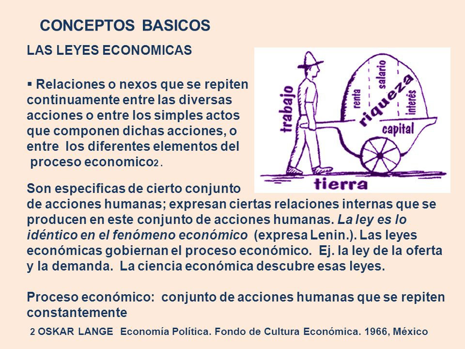 CONCEPTOS BASICOS LAS LEYES ECONOMICAS