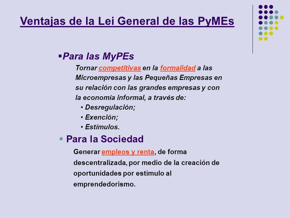 Ventajas de la Lei General de las PyMEs