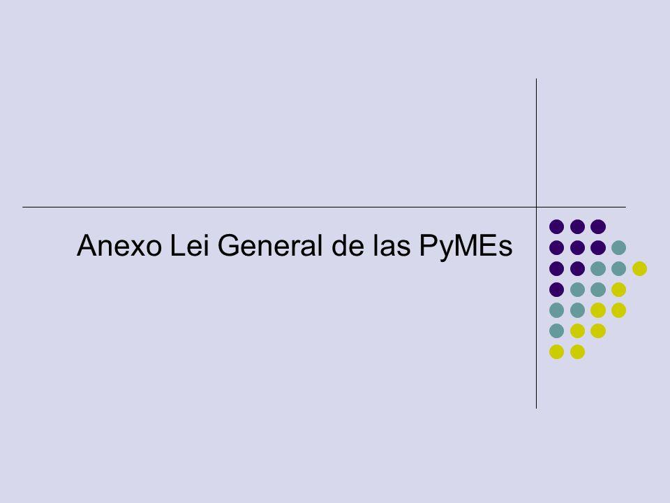 Anexo Lei General de las PyMEs