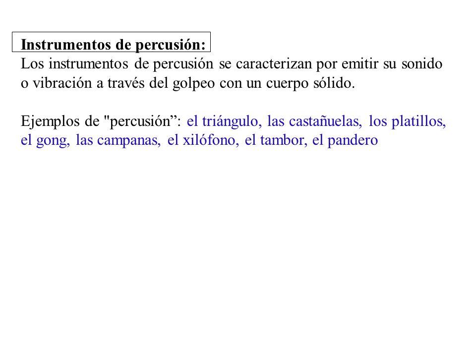 percussion Instrumentos de percusión: