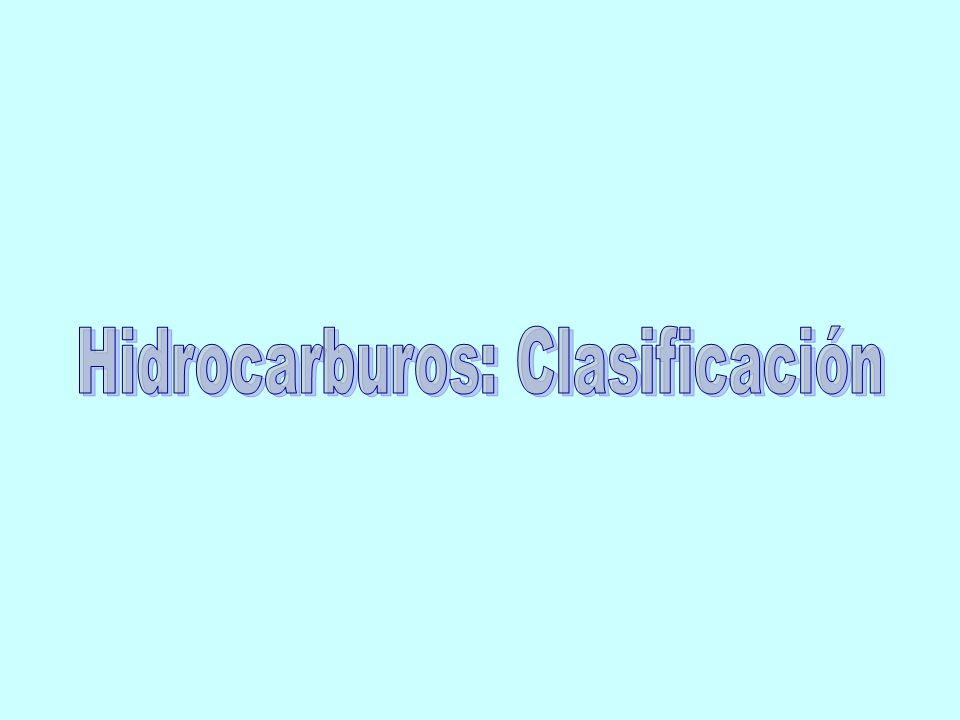 Hidrocarburos: Clasificación