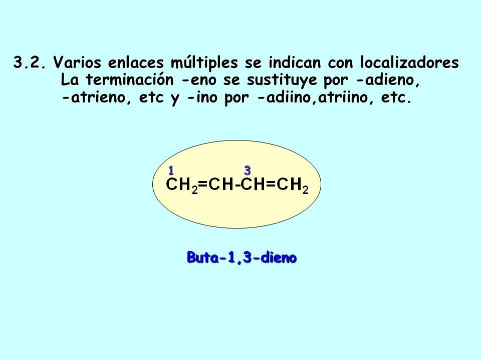 3. 2. Varios enlaces múltiples se indican con localizadores