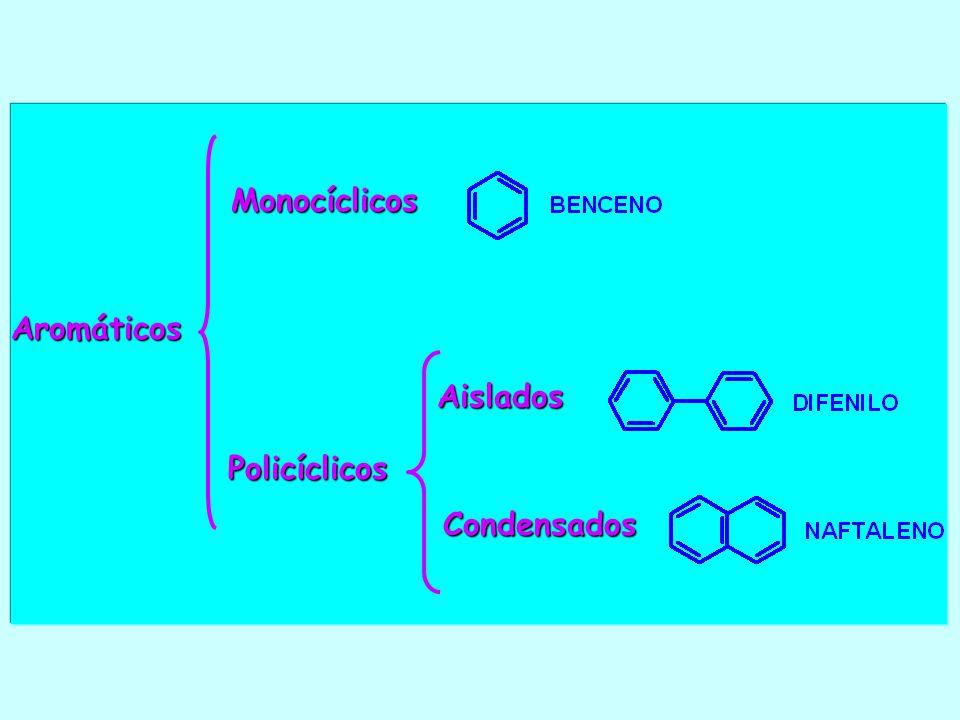 Policíclicos Monocíclicos Aromáticos Aislados Condensados