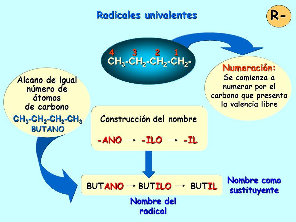 Radicales univalentes