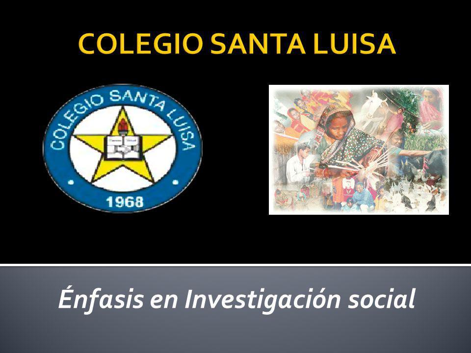 Énfasis en Investigación social