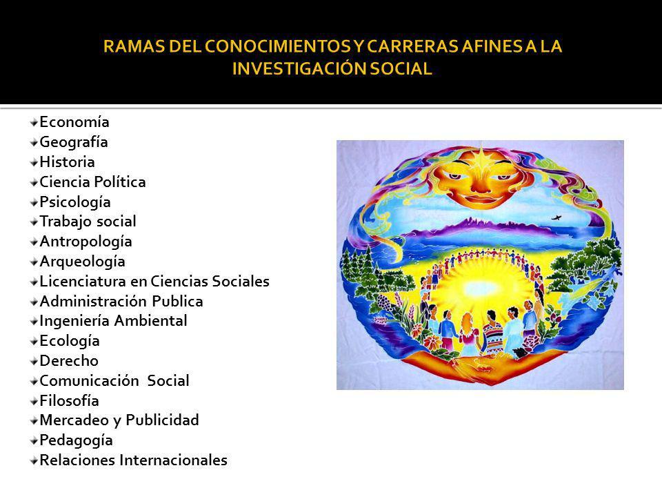 RAMAS DEL CONOCIMIENTOS Y CARRERAS AFINES A LA INVESTIGACIÓN SOCIAL