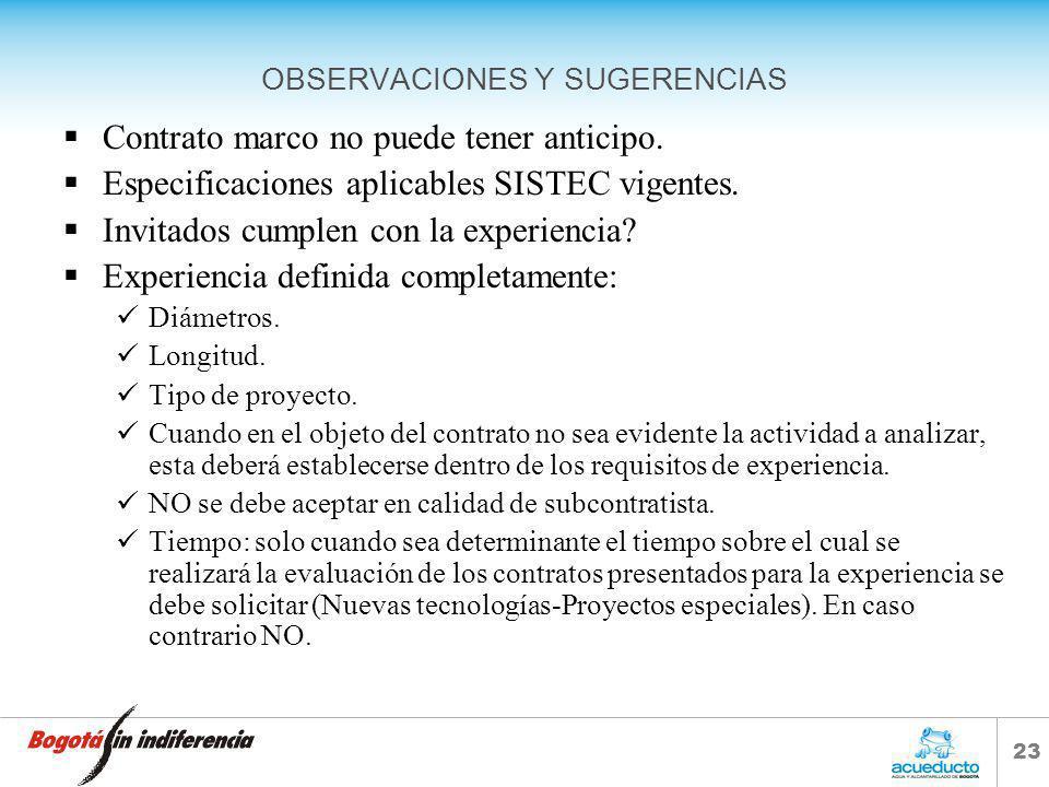 OBSERVACIONES Y SUGERENCIAS
