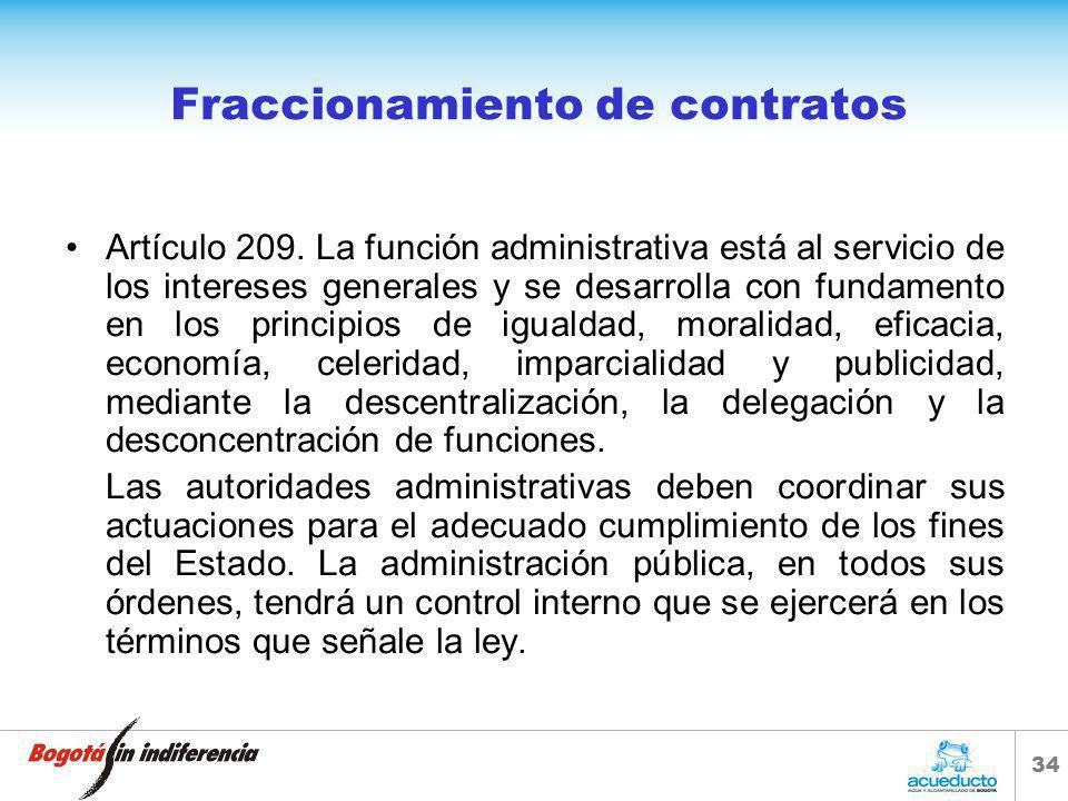 Fraccionamiento de contratos
