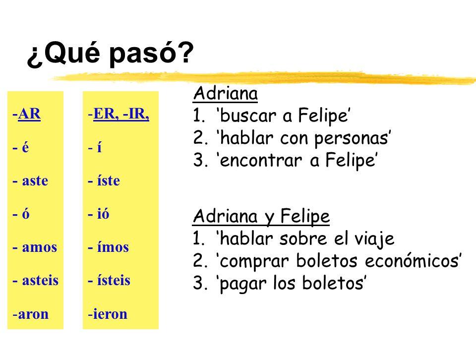 ¿Qué pasó Adriana 'buscar a Felipe' 'hablar con personas'