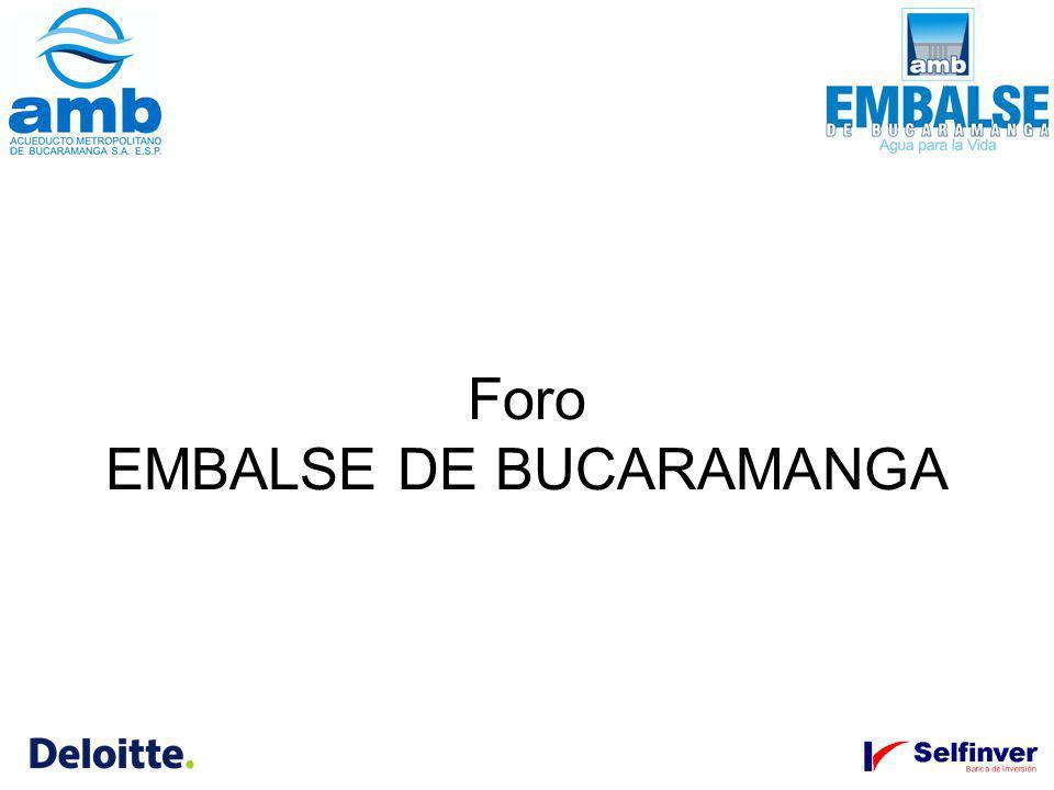 Foro EMBALSE DE BUCARAMANGA