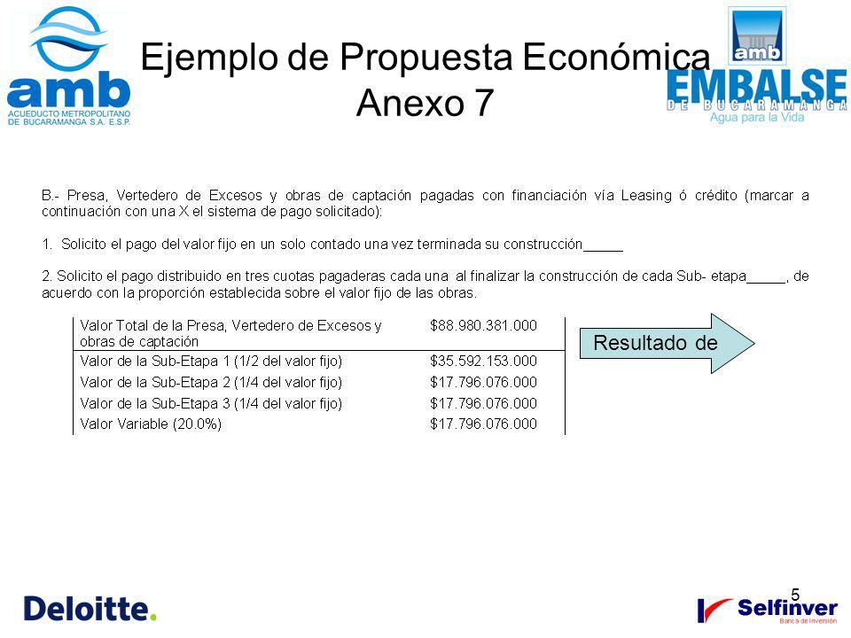 Ejemplo de Propuesta Económica Anexo 7
