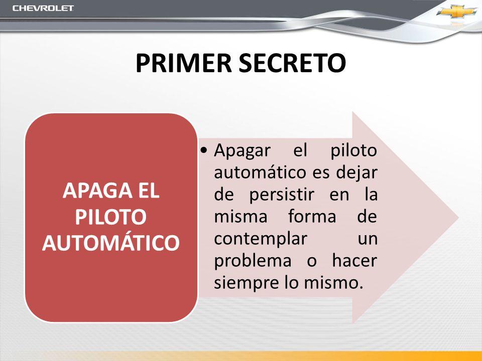 APAGA EL PILOTO AUTOMÁTICO