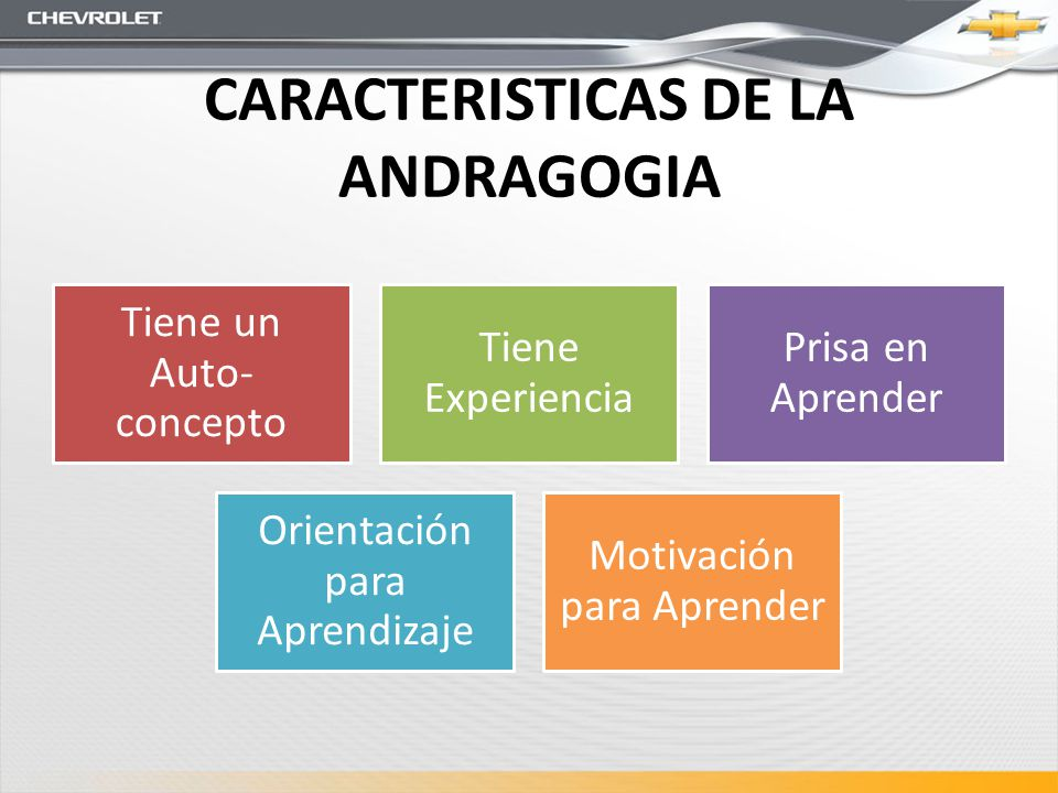 CARACTERISTICAS DE LA ANDRAGOGIA
