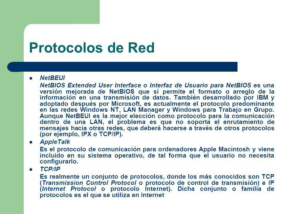 Protocolos de Red NetBEUI