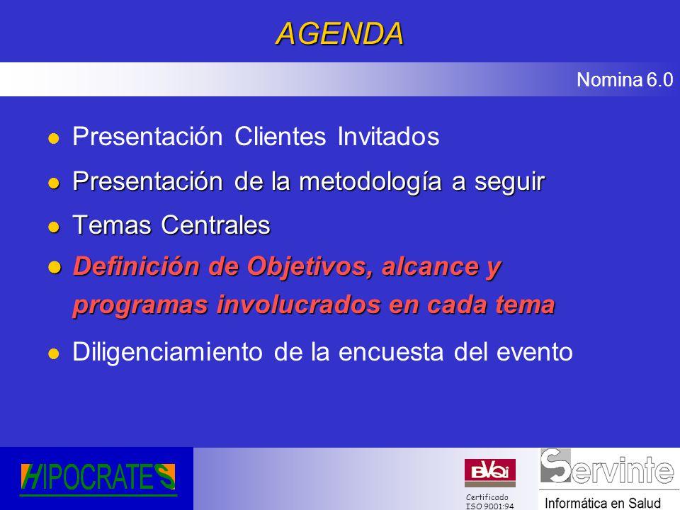 AGENDA Presentación Clientes Invitados