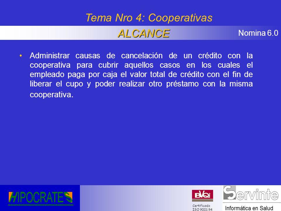 Tema Nro 4: Cooperativas