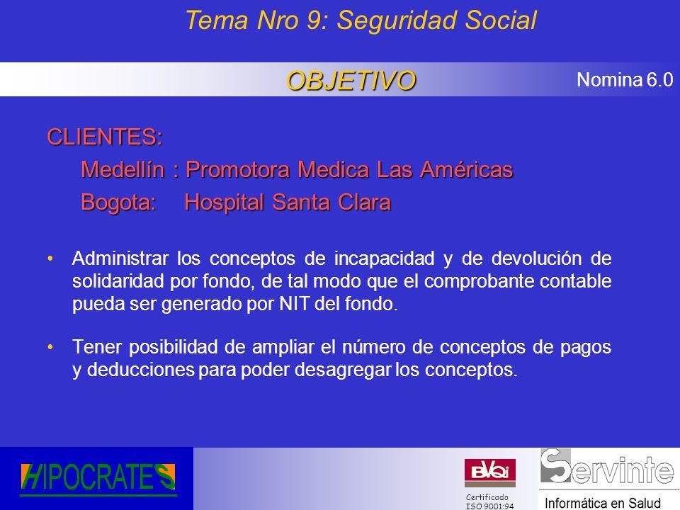 Tema Nro 9: Seguridad Social