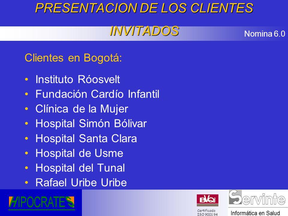 PRESENTACION DE LOS CLIENTES INVITADOS