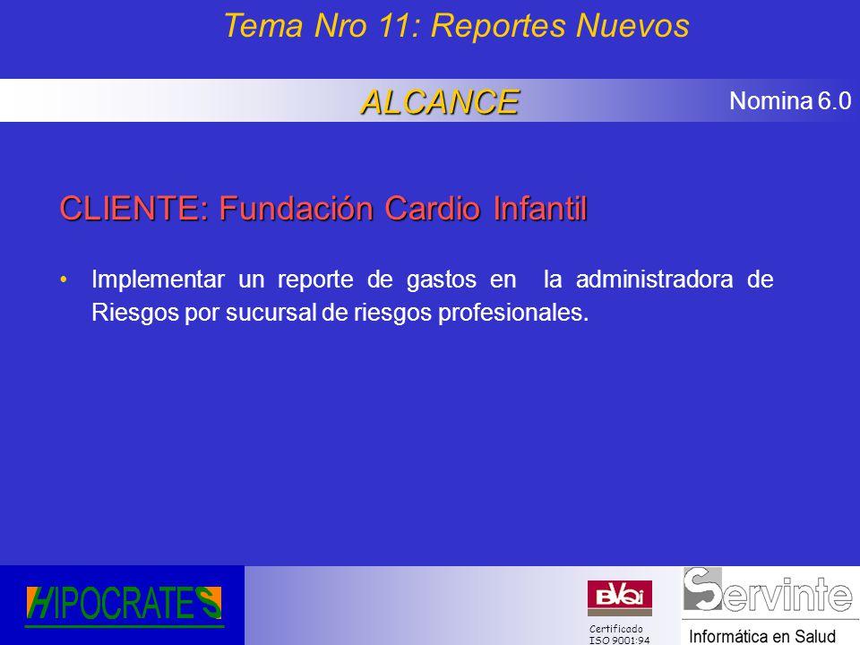 Tema Nro 11: Reportes Nuevos
