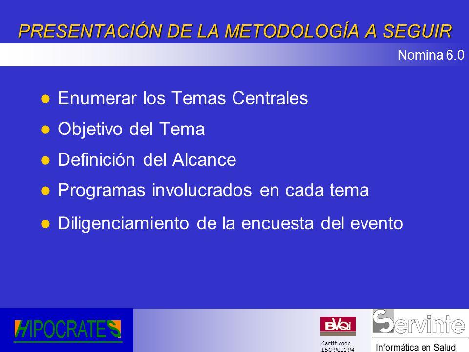 PRESENTACIÓN DE LA METODOLOGÍA A SEGUIR
