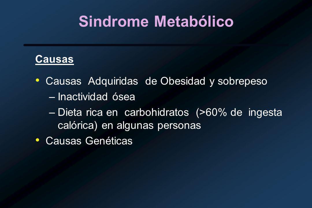 Sindrome Metabólico Causas Causas Adquiridas de Obesidad y sobrepeso