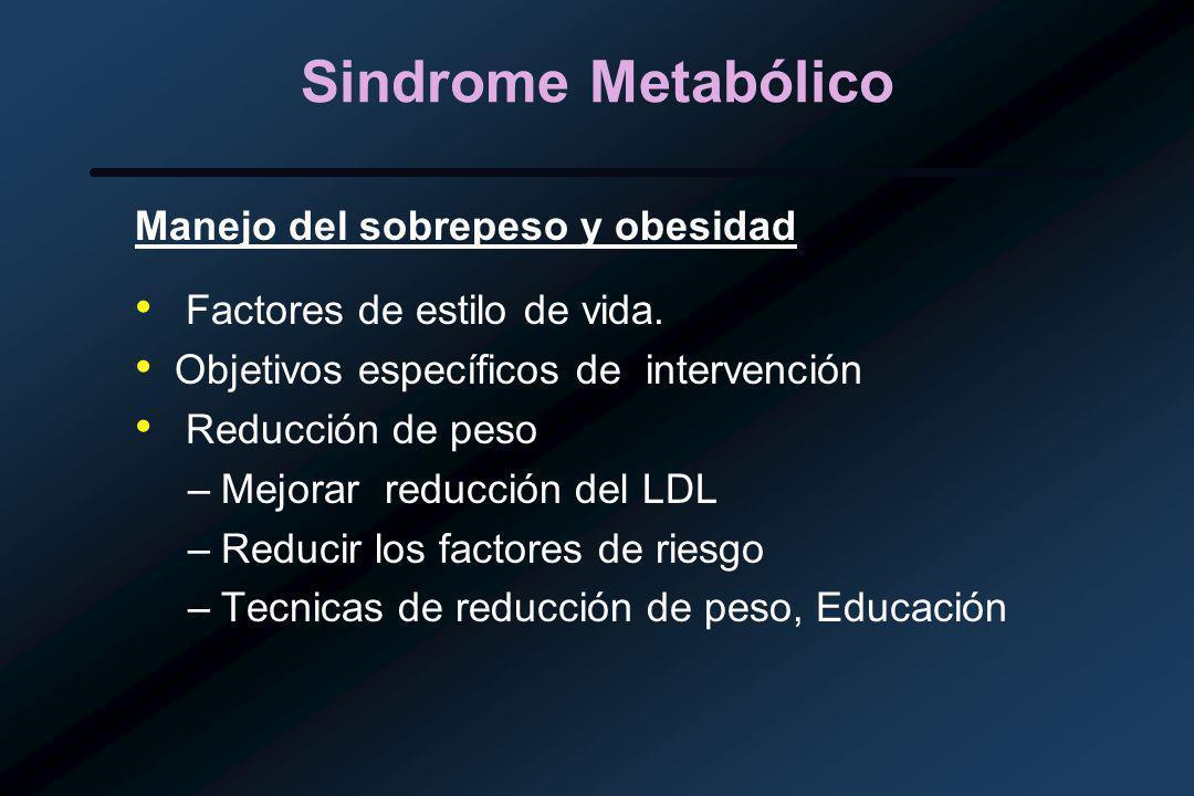 Sindrome Metabólico Manejo del sobrepeso y obesidad