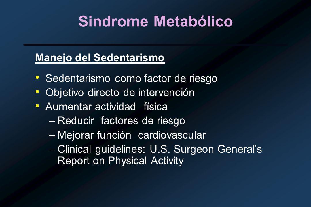 Sindrome Metabólico Manejo del Sedentarismo