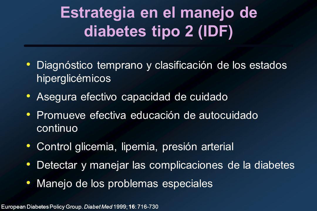 Estrategia en el manejo de diabetes tipo 2 (IDF)
