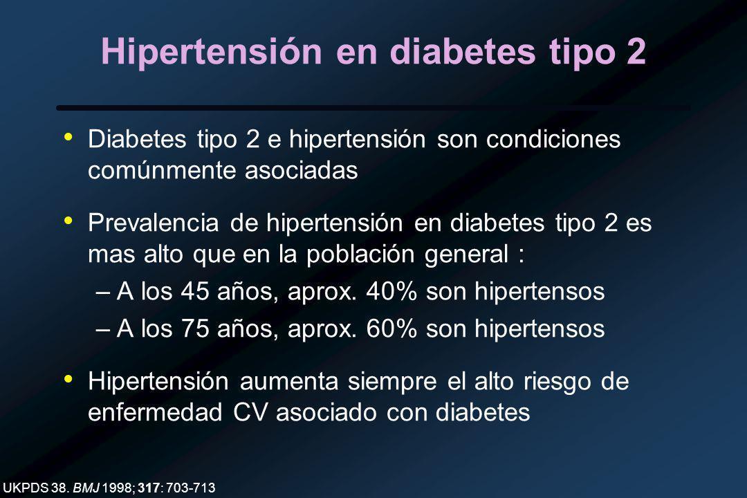 Hipertensión en diabetes tipo 2