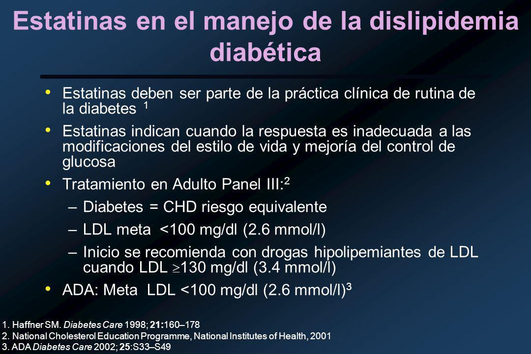 Estatinas en el manejo de la dislipidemia diabética