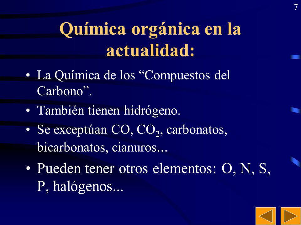 Química orgánica en la actualidad:
