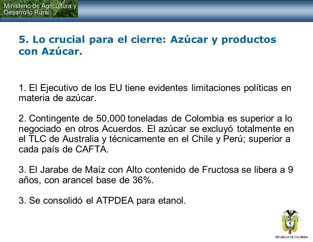 5. Otros resultados de la negociación: Cereales y sector porcícola