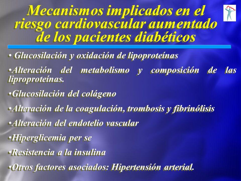 Mecanismos implicados en el riesgo cardiovascular aumentado de los pacientes diabéticos