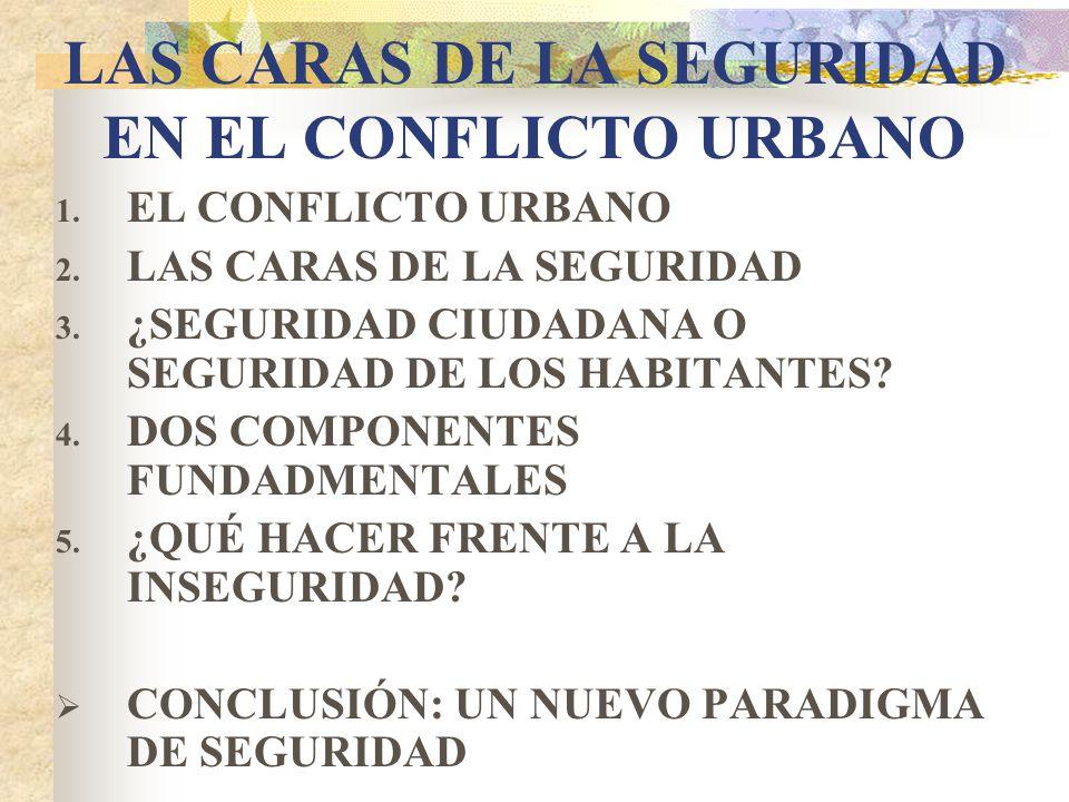 LAS CARAS DE LA SEGURIDAD EN EL CONFLICTO URBANO