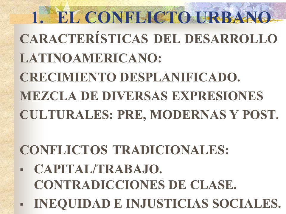 EL CONFLICTO URBANO CARACTERÍSTICAS DEL DESARROLLO LATINOAMERICANO: