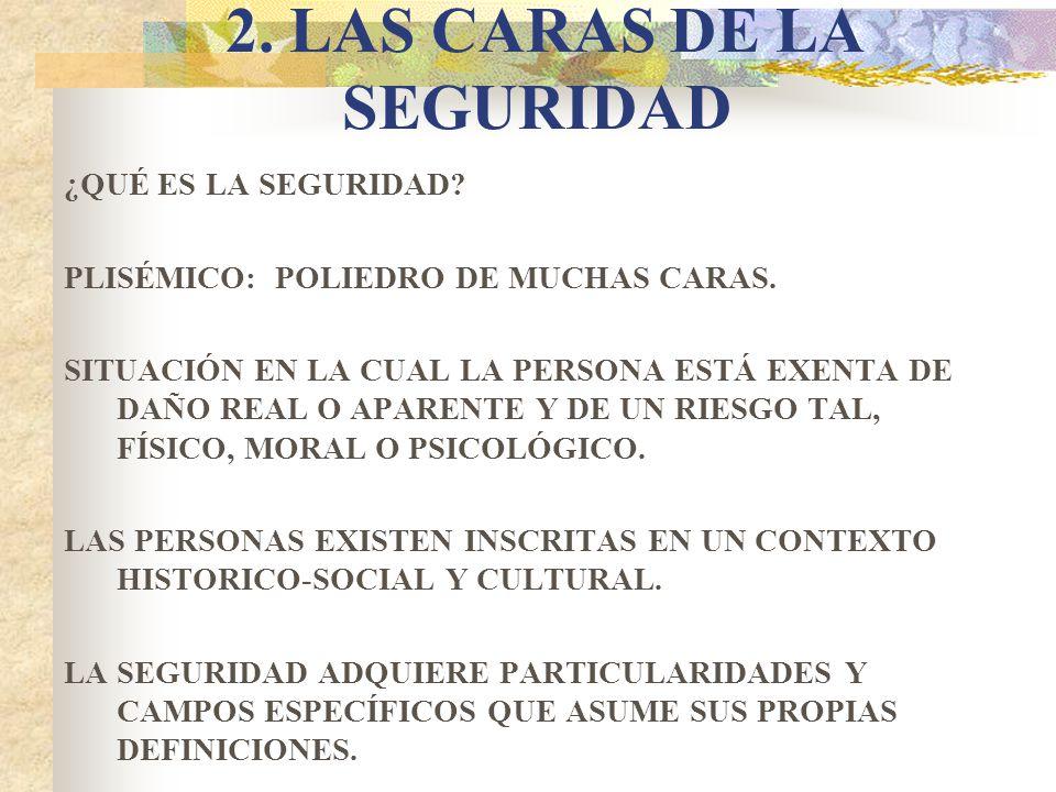 2. LAS CARAS DE LA SEGURIDAD
