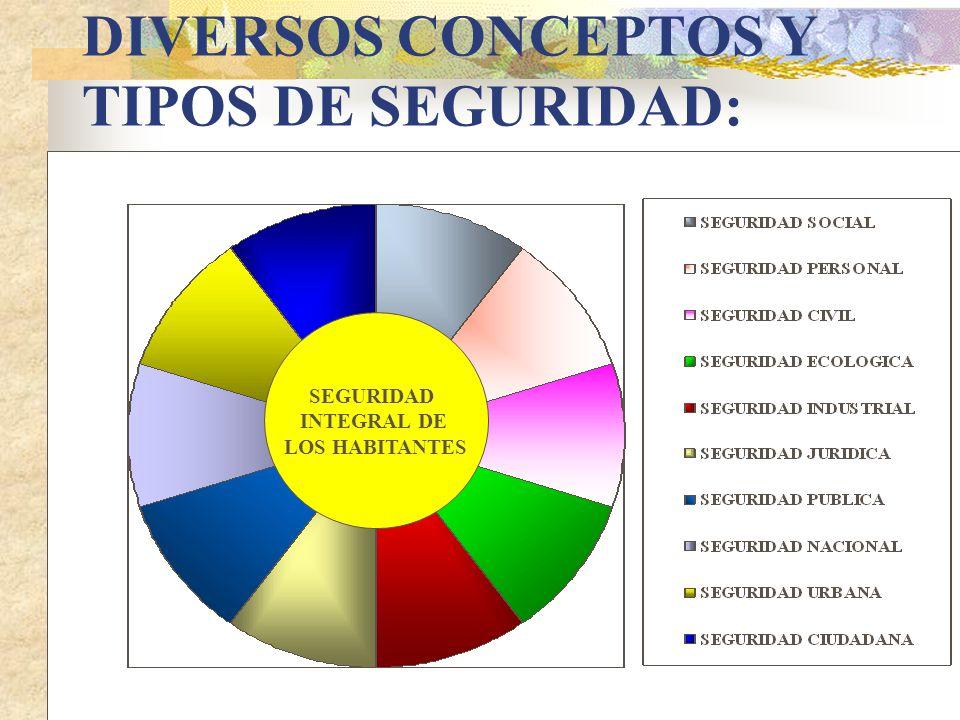 DIVERSOS CONCEPTOS Y TIPOS DE SEGURIDAD: