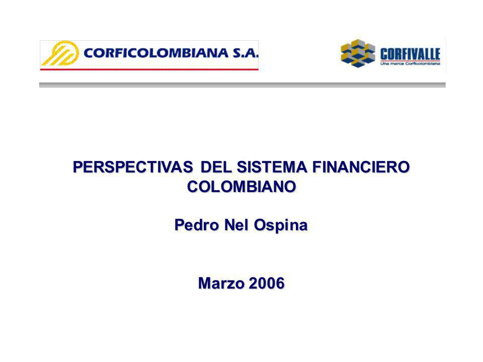 PERSPECTIVAS DEL SISTEMA FINANCIERO COLOMBIANO Pedro Nel Ospina Marzo 2006