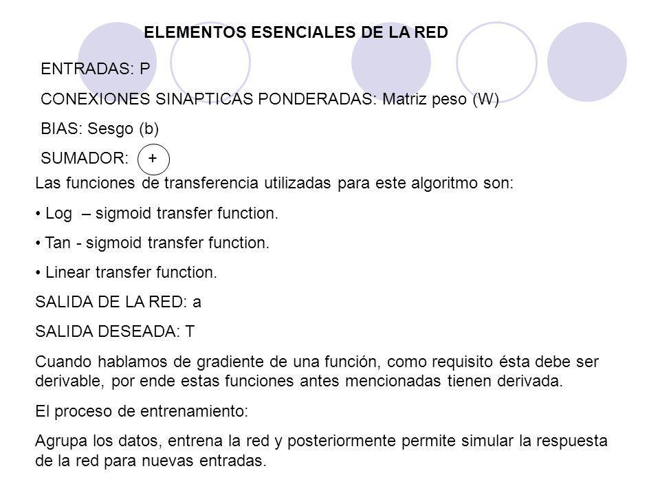ELEMENTOS ESENCIALES DE LA RED