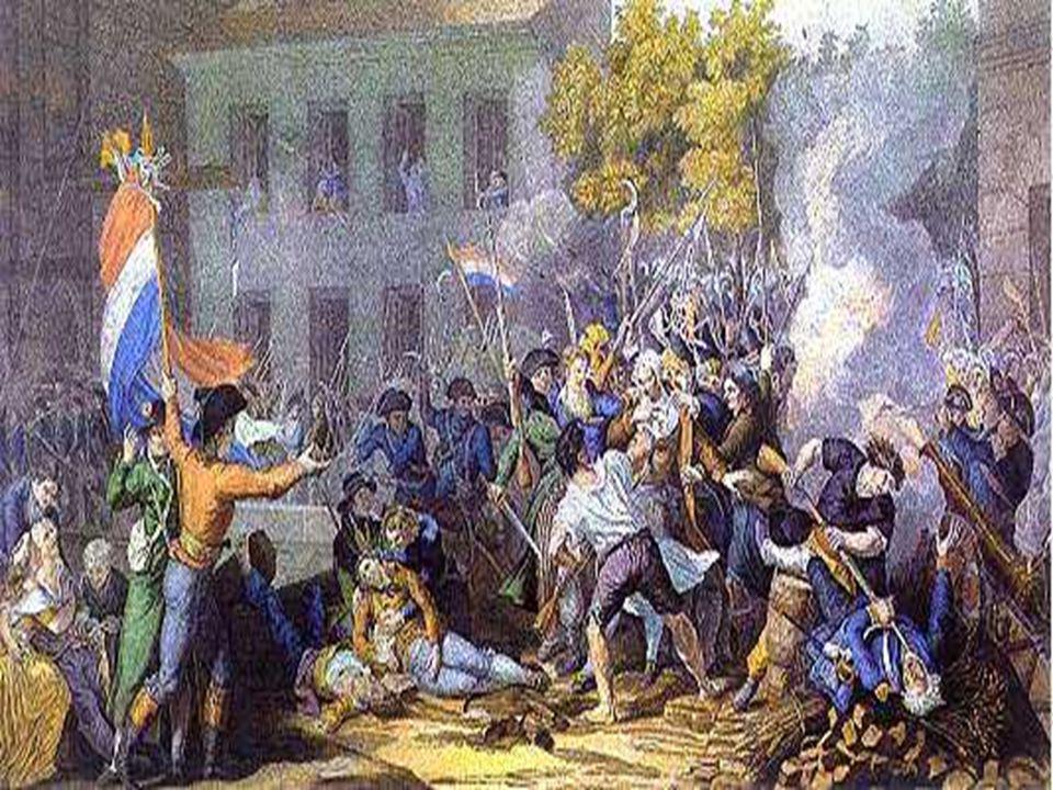 En la imagen Francia logra detener la invasión prusiana y austriaca en Valmy.