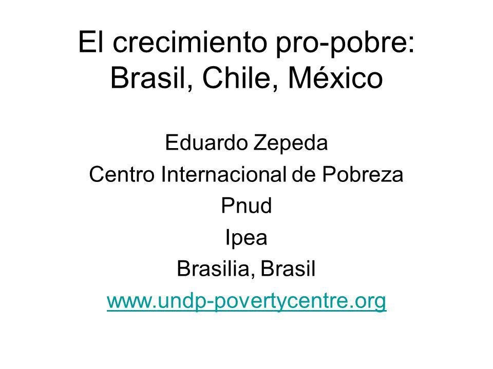 El crecimiento pro-pobre: Brasil, Chile, México