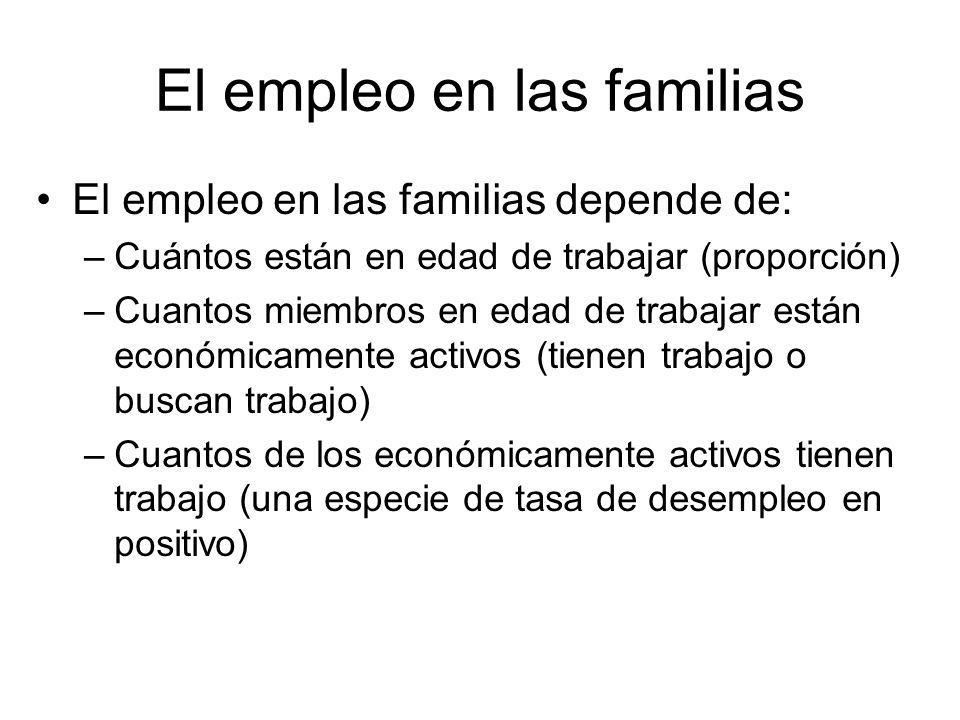 El empleo en las familias