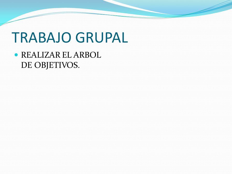 TRABAJO GRUPAL REALIZAR EL ARBOL DE OBJETIVOS.