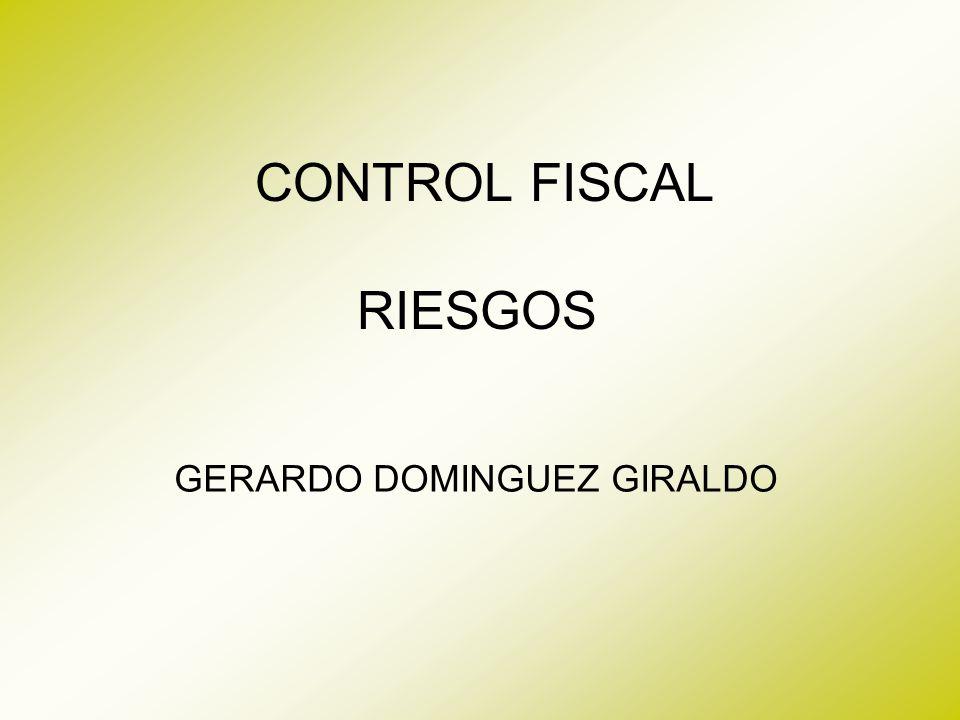 CONTROL FISCAL RIESGOS