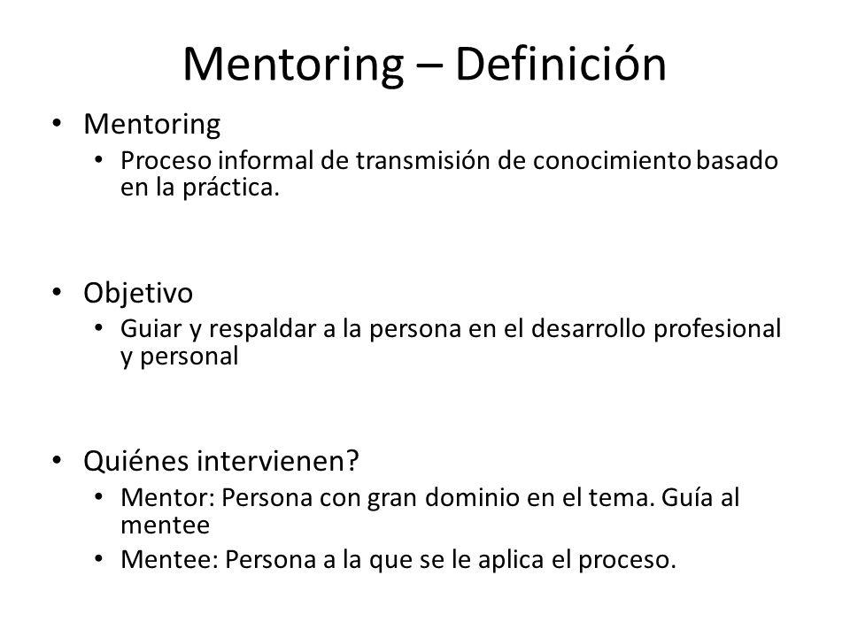 Mentoring – Definición