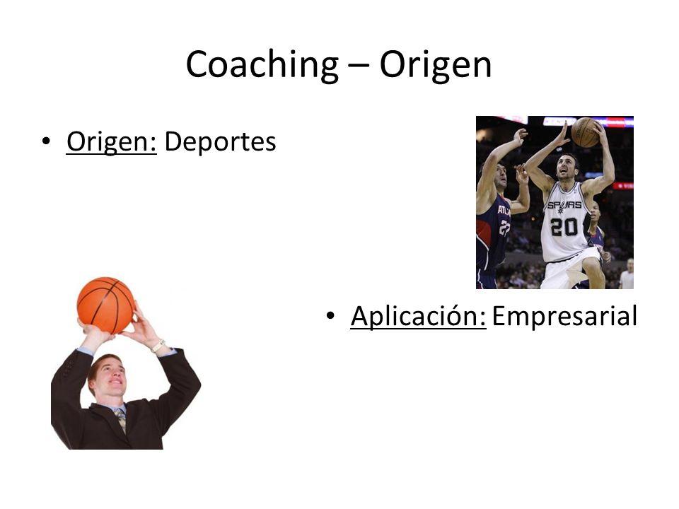 Coaching – Origen Origen: Deportes Aplicación: Empresarial